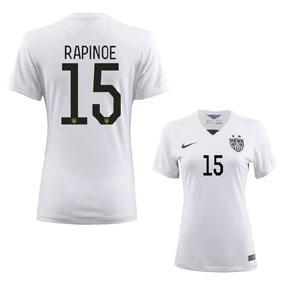 Nike Womens  USA  Rapinoe #15 Soccer Jersey (Home 2015/16)