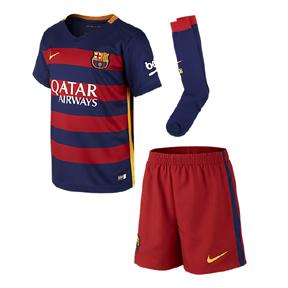 Nike Young Boy Barcelona  Soccer Jersey Mini Kit (Home 2015/16)