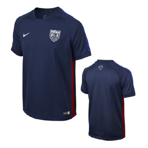 Nike Youth USA Squad Soccer Training Jersey (Blue 2015/16)