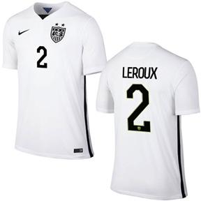 Nike USA Sydney Leroux #2 Men's Soccer Jersey (Home 2015/16)