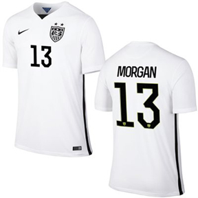 Nike USA Alex Morgan #13 Men's Soccer Jersey (Home 2015/16)