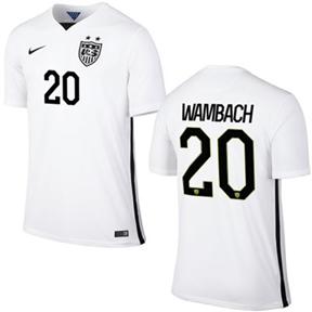 Nike USA Abby Wambach #20 Men's Soccer Jersey (Home 2015/16)
