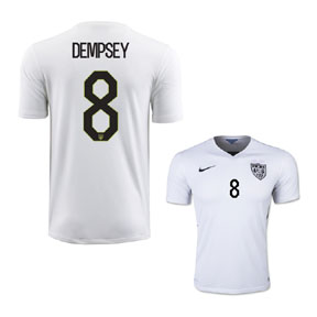 Nike USA Clint Dempsey #8 Soccer Jersey (Home 2015/16)