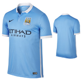 Nike Youth  Manchester City Soccer Jersey (Home 2015/16)