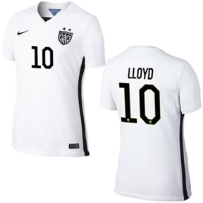 Nike USA Carli Lloyd #10 Men's Soccer Jersey (Home 2015/16)