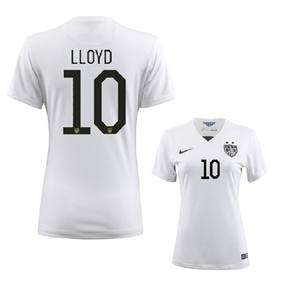 Nike Womens  USA  Lloyd #10 Soccer Jersey (Home 2015/16)