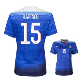 Nike Youth USA Rapinoe #15 3 Star Jersey (Away 15/16)
