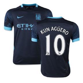 Nike Manchester City Aguero #10 Soccer Jersey (Away 2015/16)
