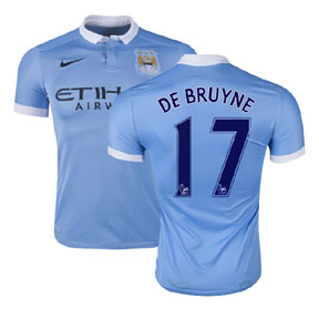 Nike Manchester City De Bruyne #17 Jersey (Home 15/16)