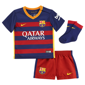 Nike Infant Barcelona Jersey Mini Kit (Home 15/16)