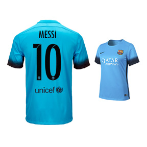 Nike Womens Barcelona Messi #10 Night Rising Soccer Jersey