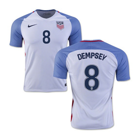 Nike USA  Clint Dempsey #8 Soccer Jersey (Home 16/17)