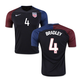 Nike   USA   Bradley #4 USMNT Soccer Jersey (Away 2016/17)