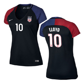 Nike Womens  USA  Carli Lloyd #10 Soccer Jersey (Away 2016/17)