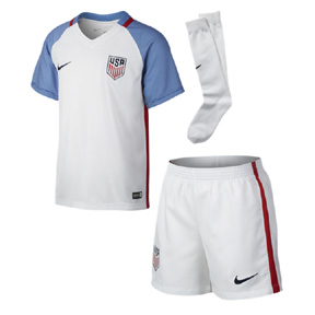 Nike Young Boy  USA  Soccer Jersey Mini Kit (Home 2016/17)