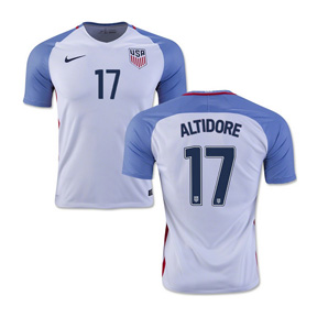 Nike Youth  USA  Jozy Altidore #17 Soccer Jersey (Home 16/17)
