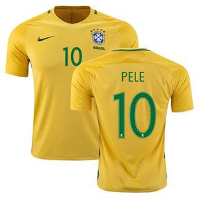 Nike  Brasil  / Brazil  Pele #10 Soccer Jersey (Home 2016/17)