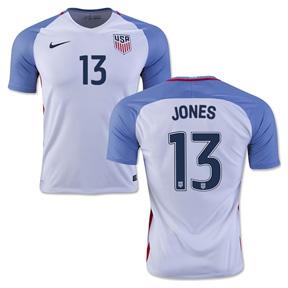 Nike  USA  Jermaine Jones #13 Soccer Jersey (Home 2016/17)