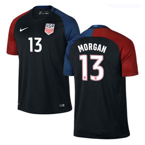 Nike Youth  USA  Alex Morgan #13  Soccer Jersey (Away 2016/17)