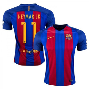 Nike Youth  Barcelona  Neymar #11 Jersey (Home 16/17)