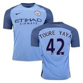 Nike Manchester City  Yaya Toure #42 Jersey (Home 16/17)