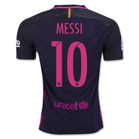 Nike Youth Barcelona  Messi #10 Soccer Jersey (Away 16/17)
