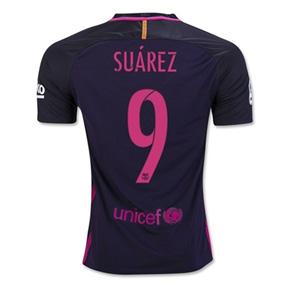 Nike Youth  Barcelona  Suarez #9 Jersey (Away 16/17)