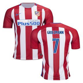 Nike  Atletico Madrid  Griezmann #7 Soccer Jersey (Home 2016/17)