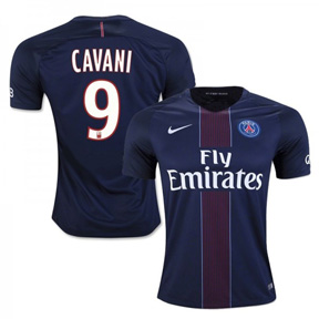 Nike  Paris Saint-Germain  Cavani #9 Jersey (Home 16/17)