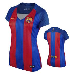 Nike Womens  Barcelona  Soccer Jersey (Home 16/17)