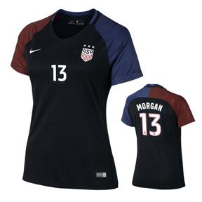 Nike Womens  USA  Alex Morgan #13 Player Cut Jersey (Away 16/17)
