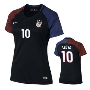 Nike Womens  USA  Carli Lloyd #10 Player Cut Jersey (Away 16/17)