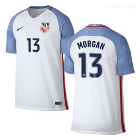 Nike  USA  Alex Morgan #13 Men's Jersey (Home 16/17)