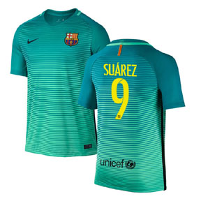 Nike Youth  Barcelona  Suarez #9 Jersey (Alternate 16/17)