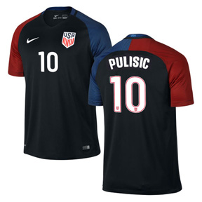 Nike  USA  Christian Pulisic #10 Soccer Jersey (Away 2016/17)