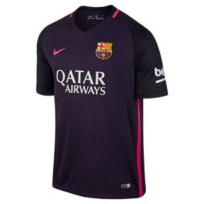 Nike  Barcelona   Soccer Jersey (Away Logo 16/17)