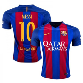 Nike  Barcelona  Lionel Messi #10 Jersey (Home Logo 16/17)