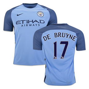 Nike Youth  Manchester City  De Bruyne #17 Jersey (Home 16/17)