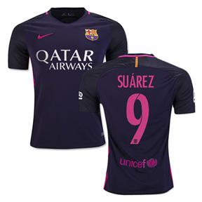 Nike Youth  Barcelona  Suarez #9 Jersey (Away Logo 16/17)