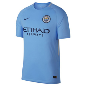 Nike Youth  Manchester City   Soccer Jersey (Home 17/18)