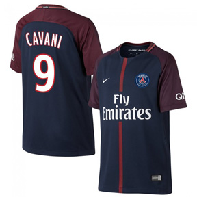 Nike  Paris Saint-Germain   Cavani #9 Soccer Jersey (Home 17/18)
