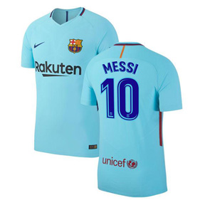 Nike Youth  Barcelona   Messi #10 Soccer Jersey (Away 17/18)