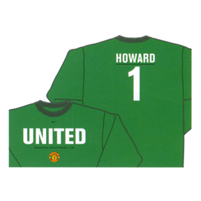 Nike Manchester United Howard #1 LS Hero Soccer Tee (Green)