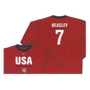 Nike USA Beasley Long Sleeve Hero Soccer Tee (Red)