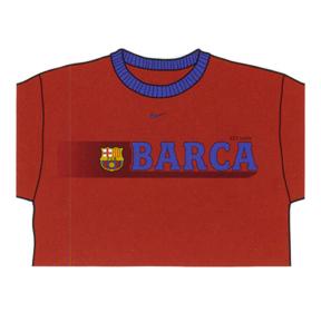 Nike Barcelona Soccer Ringer Tee (Crimson)