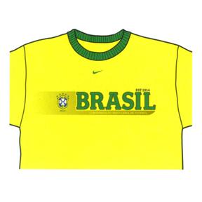 Nike Brasil / Brazil Soccer Ringer Tee (Yellow)