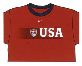 Nike USA Soccer Ringer Tee (Maroon)