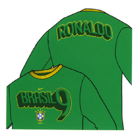 Nike Brasil / Brazil Ronaldo Long Sleeve Hero Tee (Green)