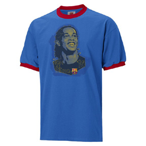 Nike Barcelona Ronaldinho Player Badge Soccer Tee