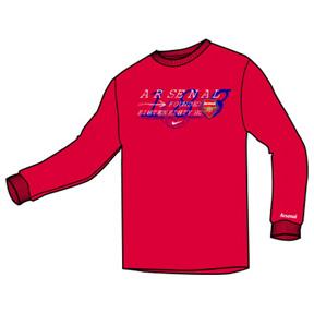Nike Arsenal Long Sleeve Soccer Tee (University Red)